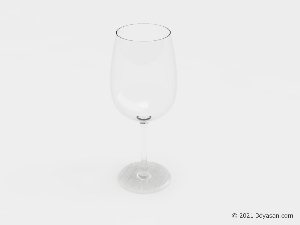 ワイングラスの3Dモデル