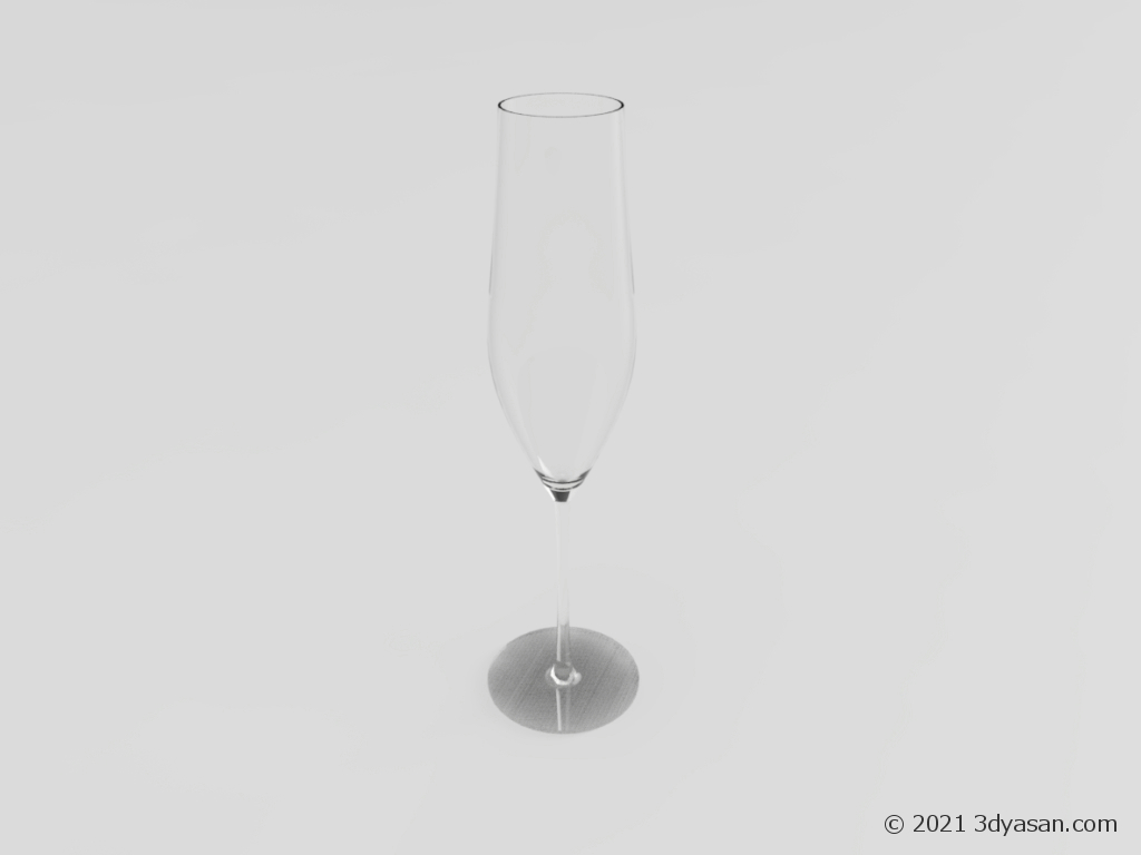 シャンパングラスの3Dモデル