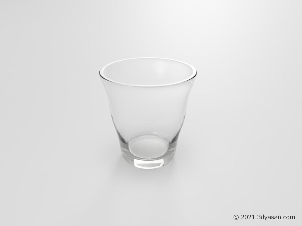 グラスの3Dモデル