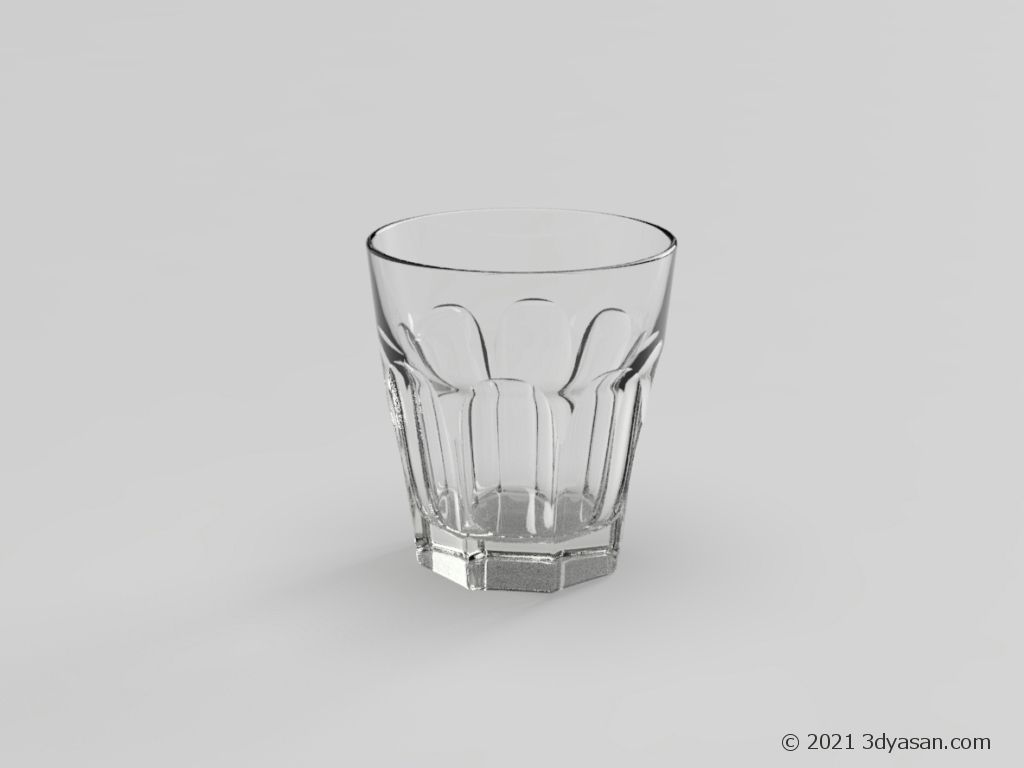 ロックグラスの3Dモデル