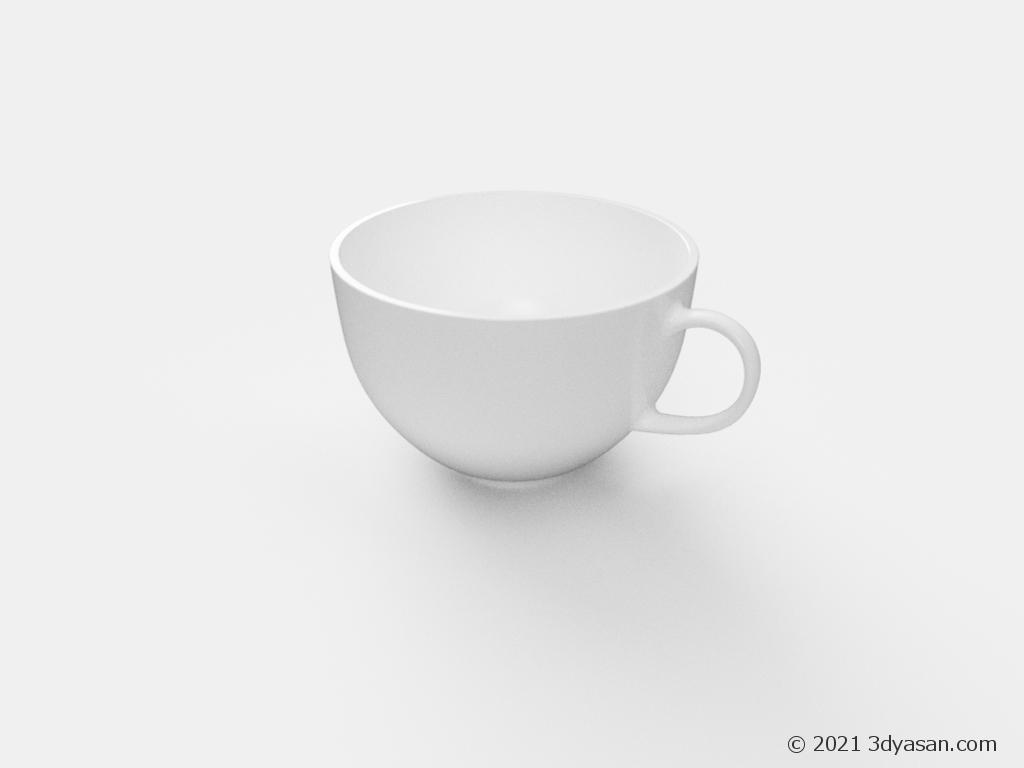 ティーカップの3Dモデル