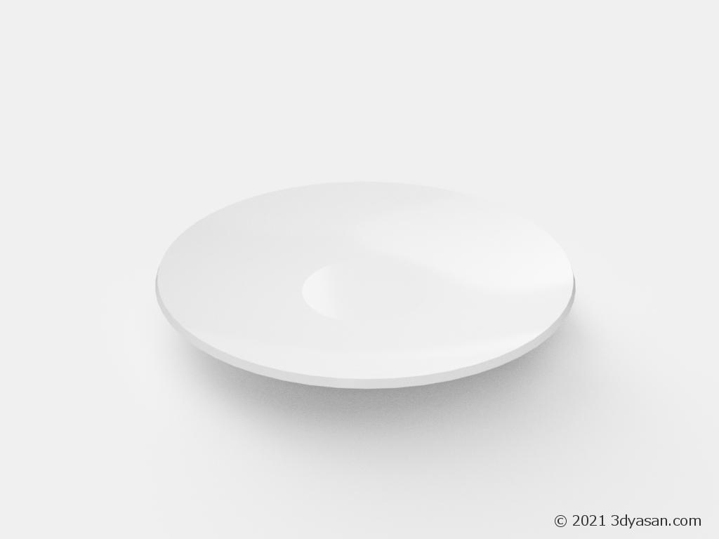 ソーサーの3Dモデル