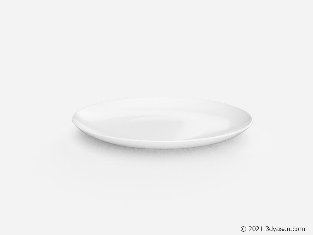 丸皿の3Dモデル