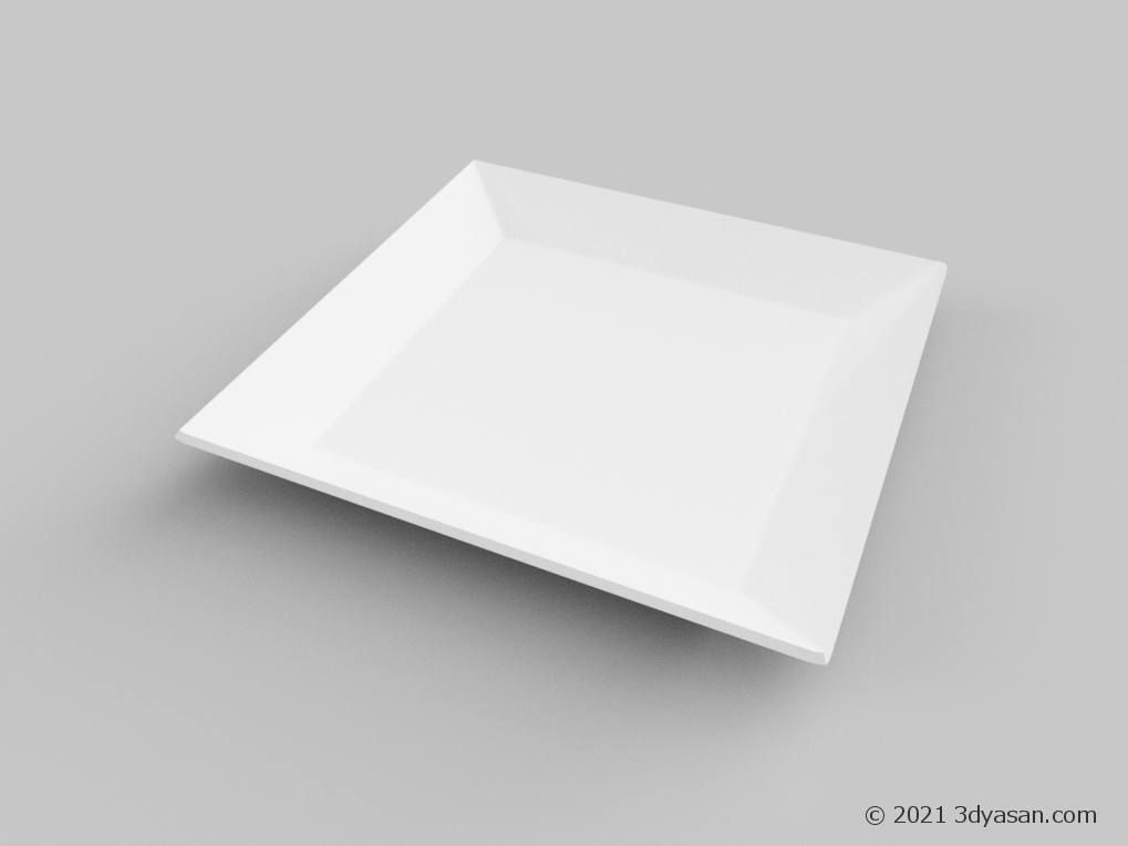 角皿の3Dモデル