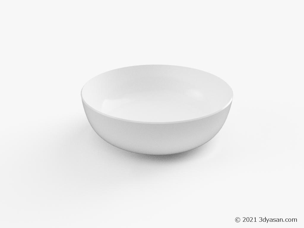 深皿の3Dモデル