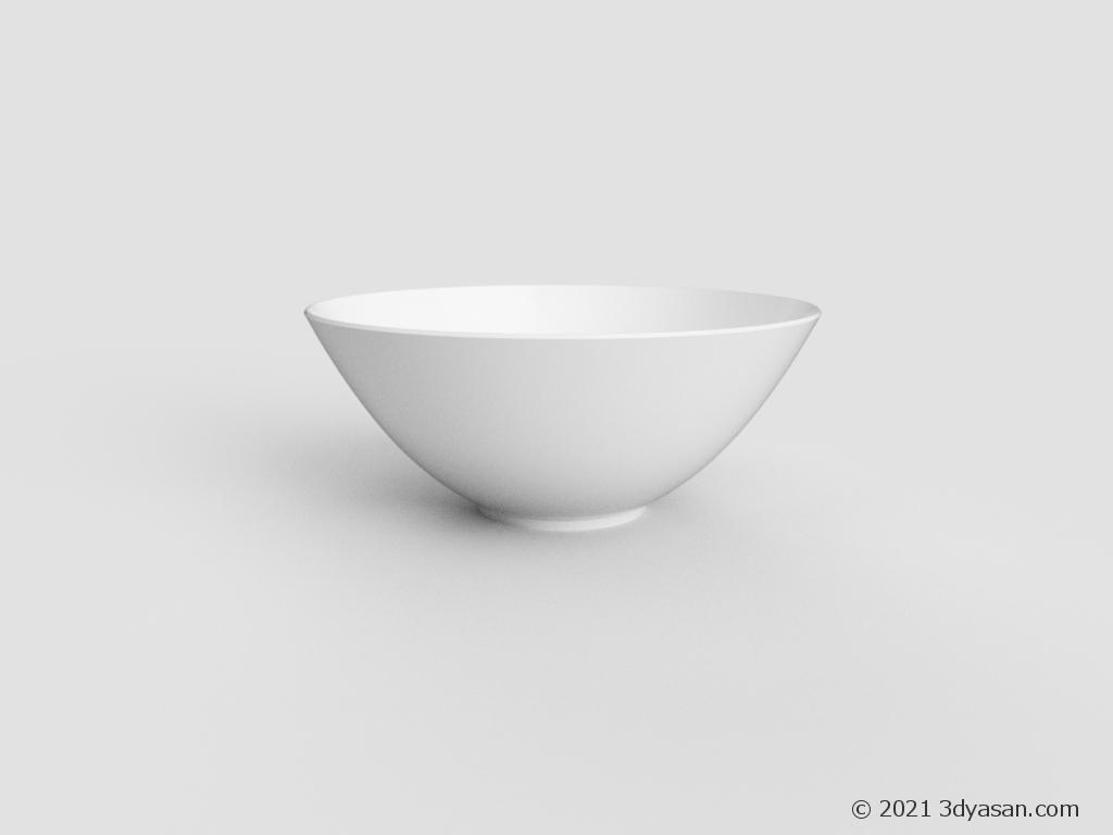 サラダボウルの3Dモデル