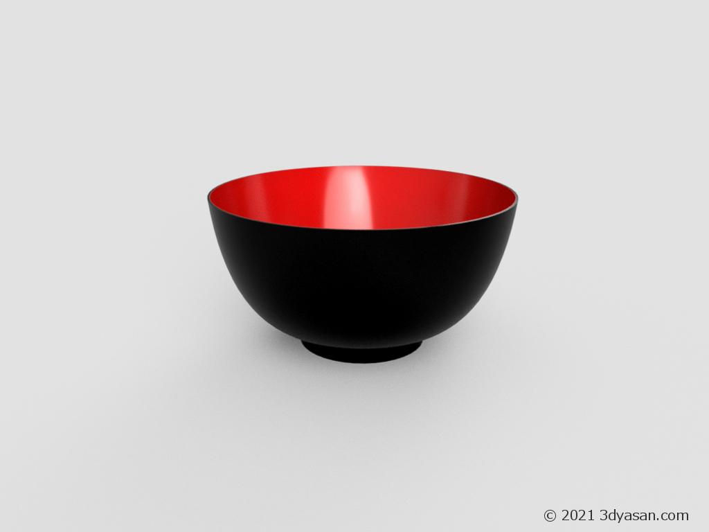 汁椀の3Dモデル