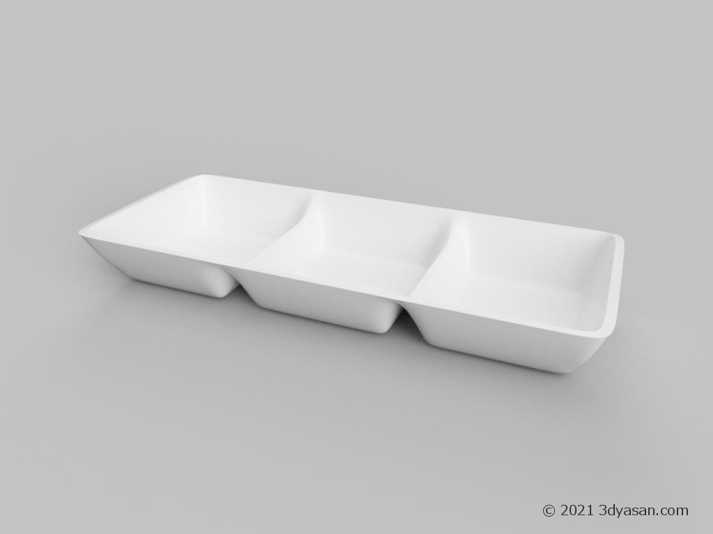 薬味皿の3Dモデル
