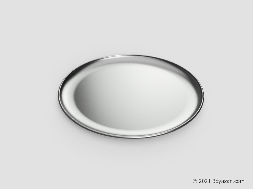 トレー(お盆)の3Dモデル