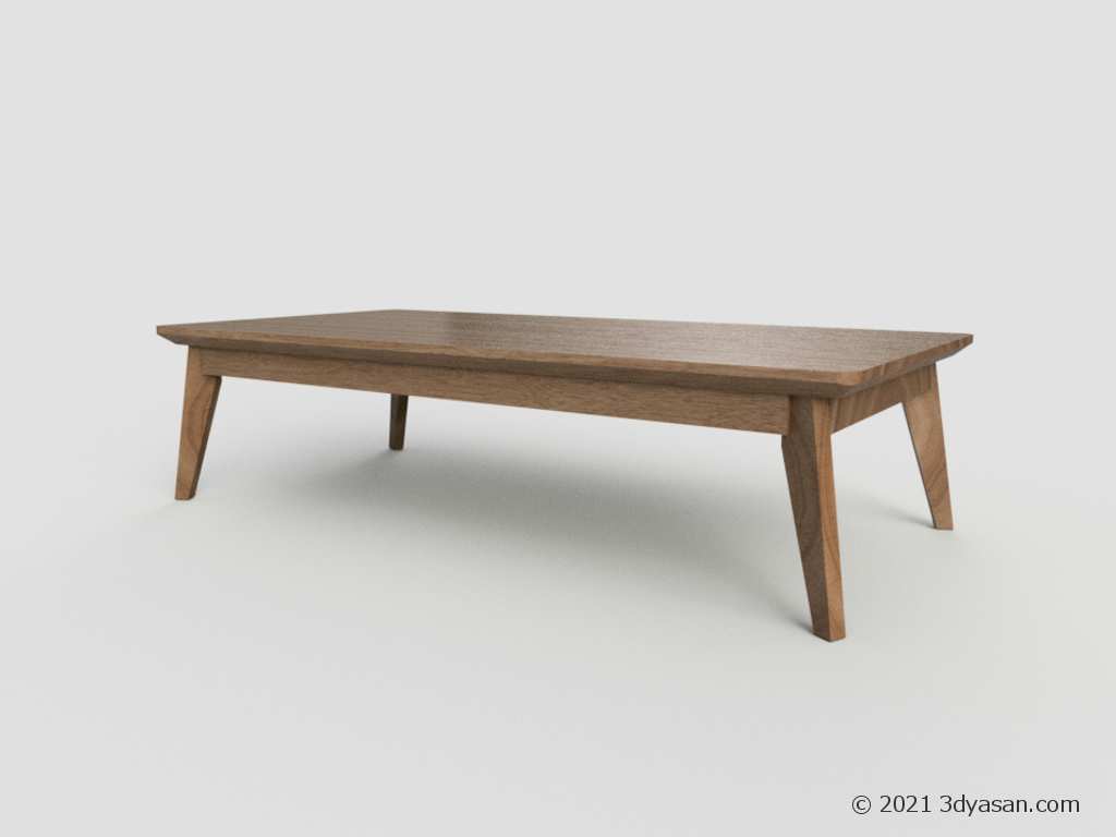 ローテーブルの3Dモデル