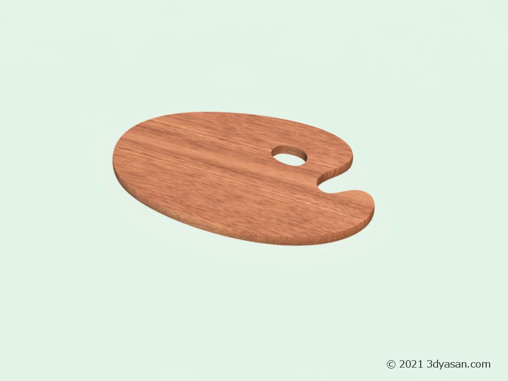 丸型木製パレットの3Dモデル