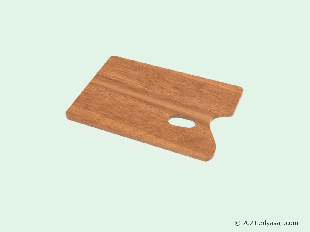 角型木製パレットの3Dモデル
