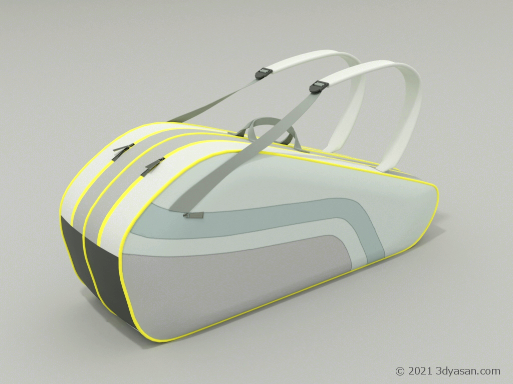 ラケットバックの3Dモデル