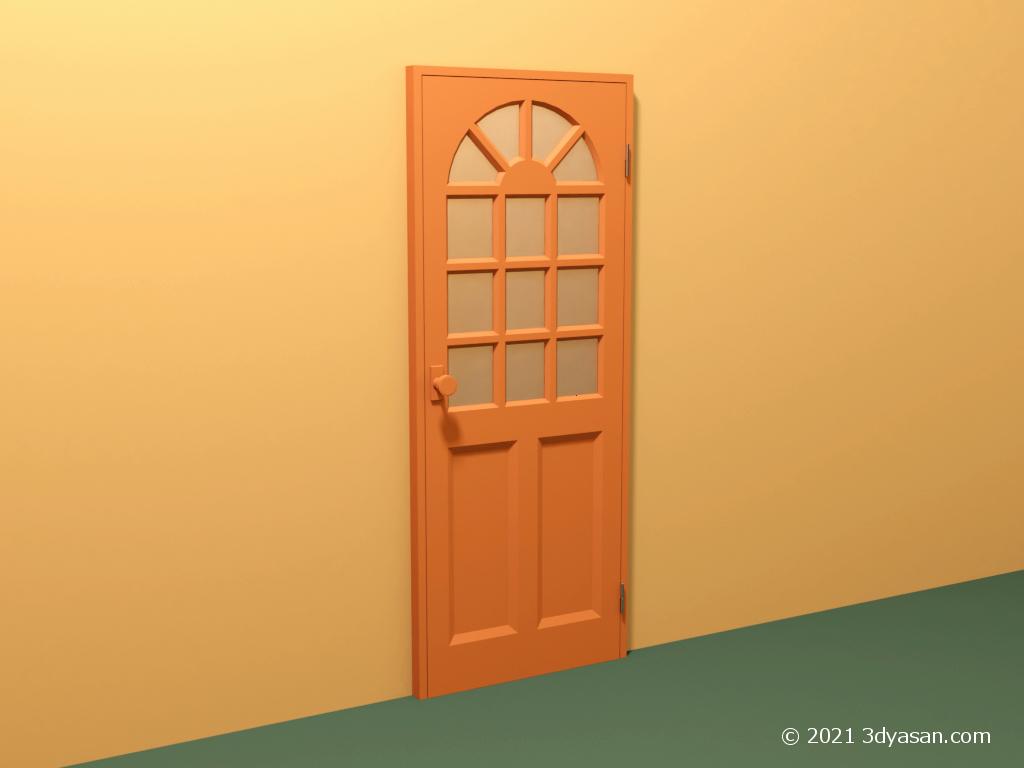 カフェ風ドアの3Dモデル