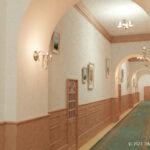 洋館の廊下の3Dモデル