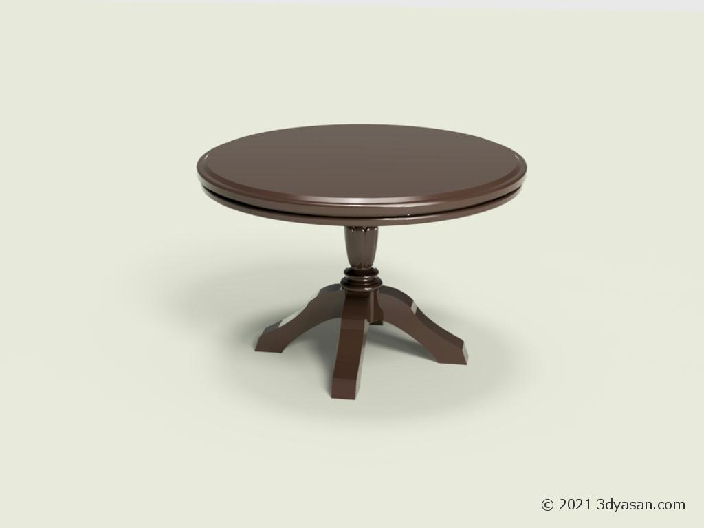 アンティーク調のテーブルの3Dモデル