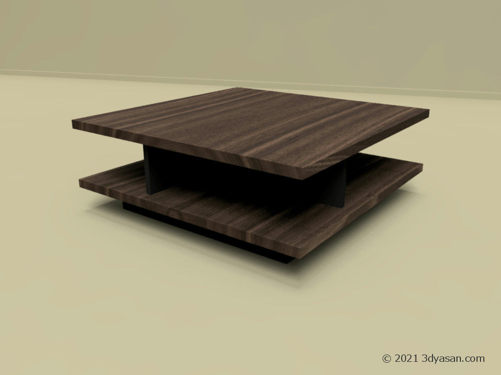センターテーブルの3Dモデル
