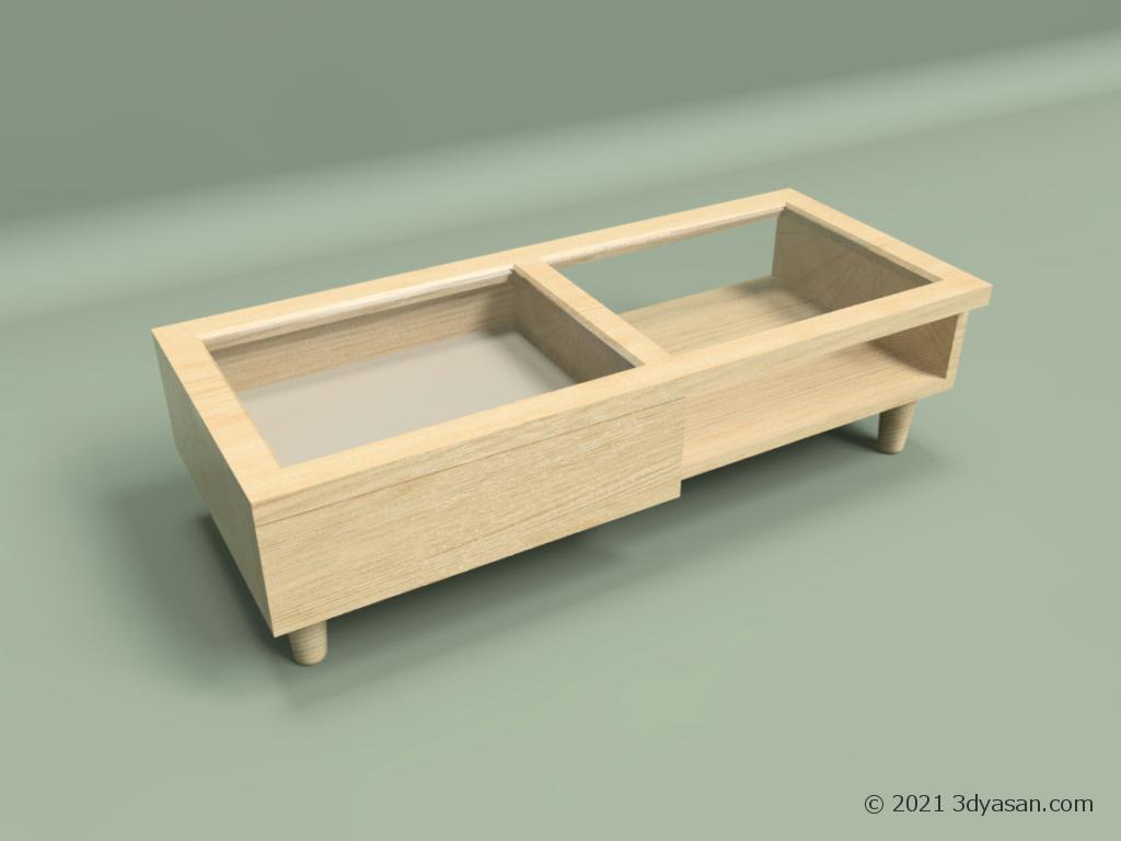 アクセサリー収納付きセンターテーブルの3Dモデル