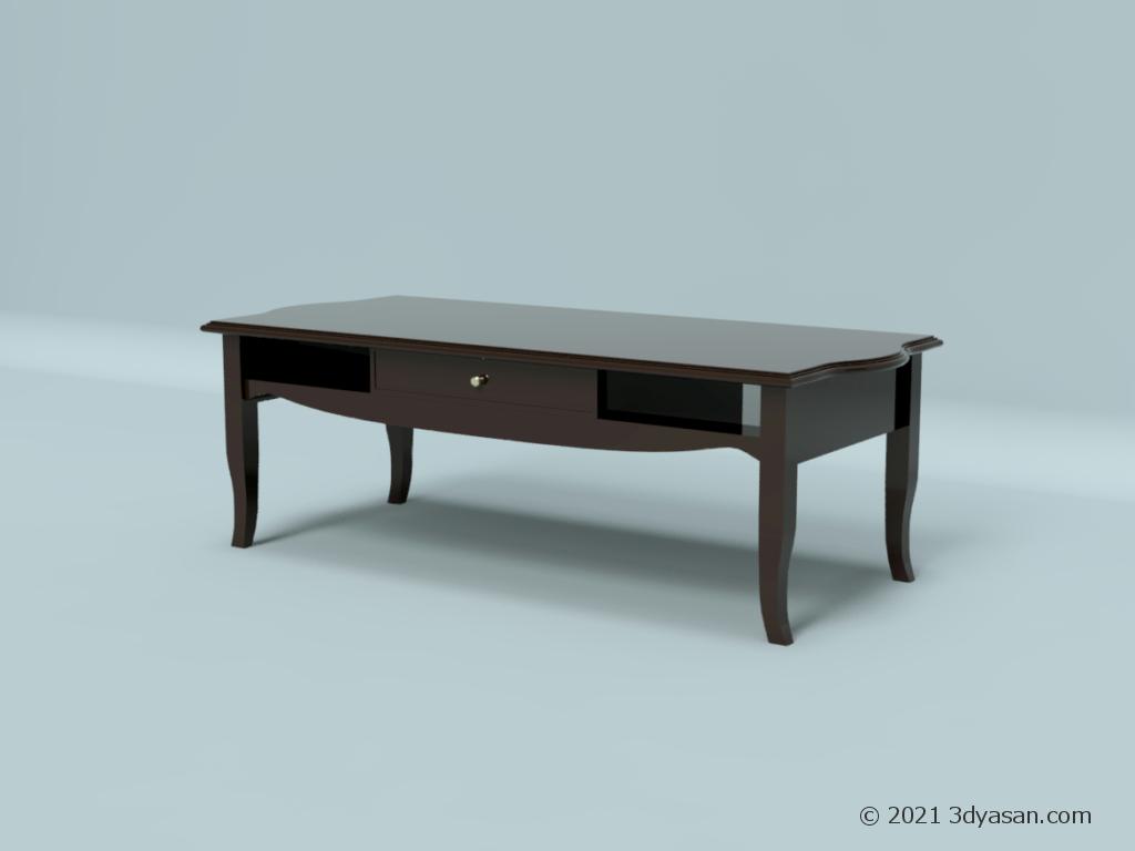 アンティーク風センターテーブルの3Dモデル