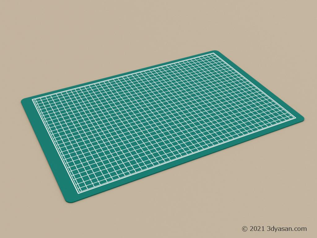 カッターマット(カッティングマット)の3Dモデル