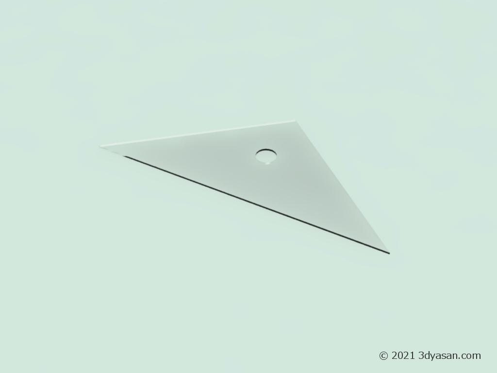 三角定規の3Dモデル