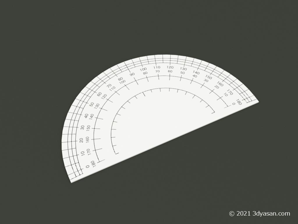 分度器の3Dモデル