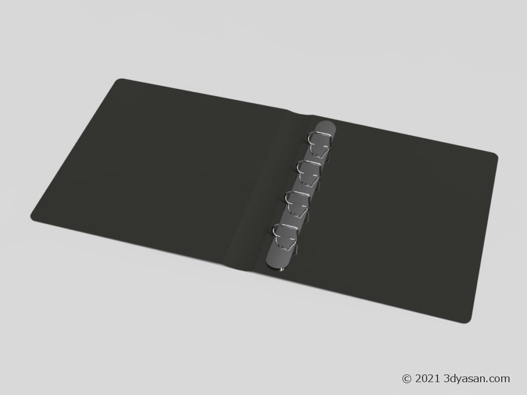 リングファイルの3Dモデル