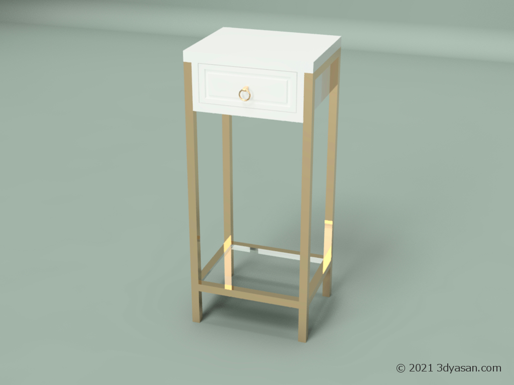 サイドテーブルの3Dモデル
