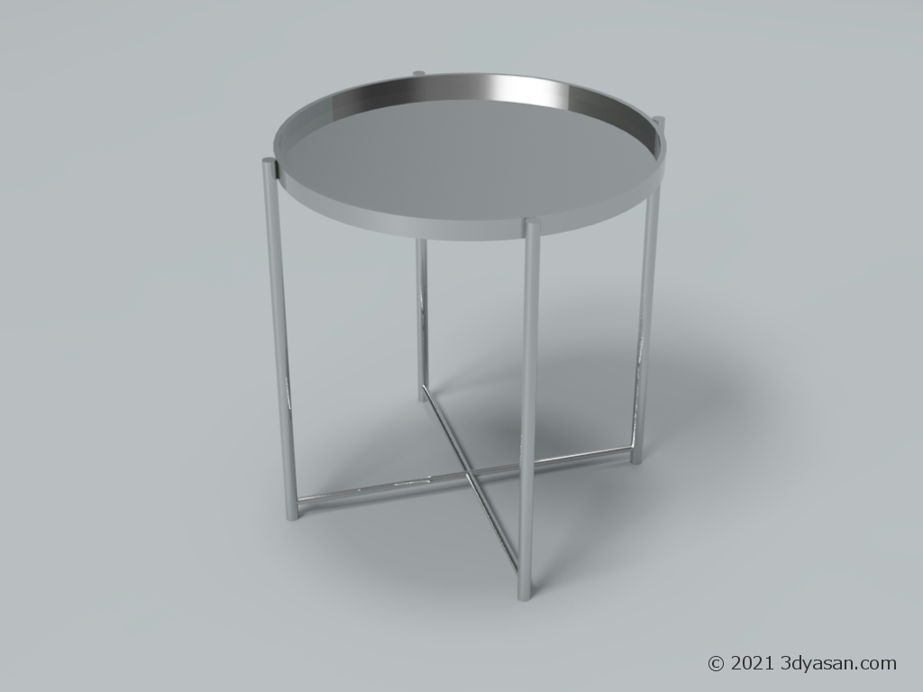 トレーテーブルの3Dモデル