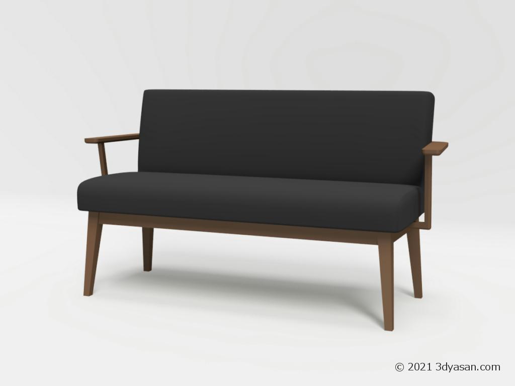 2人掛けダイニングソファの3Dモデル