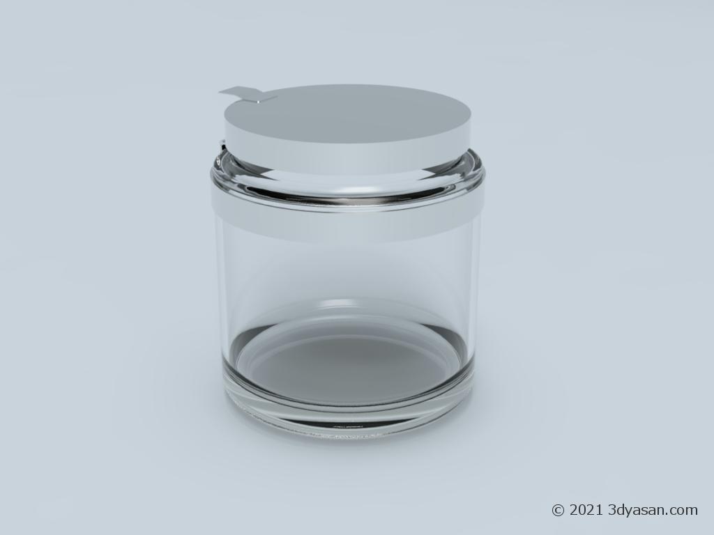 ガラス瓶の3Dモデル