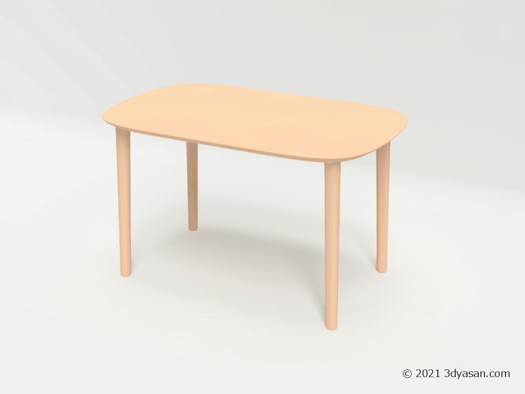 2人掛けダイニングテーブルの3Dモデル