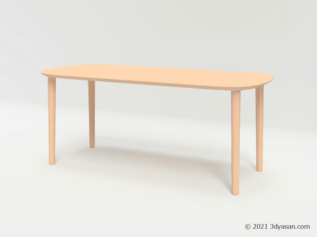 6人掛けダイニングテーブルの3Dモデル