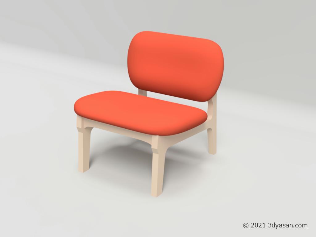 ローチェアの3Dモデル