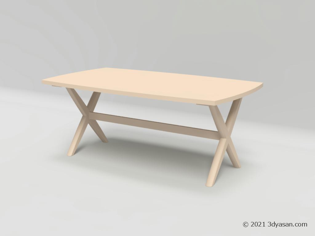 ダイニングローテーブルの3Dモデル