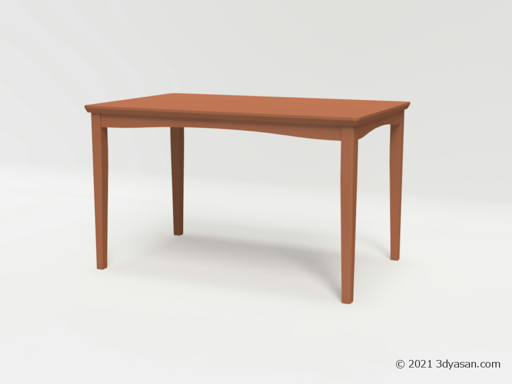 4人掛けダイニングテーブルの3Dモデル