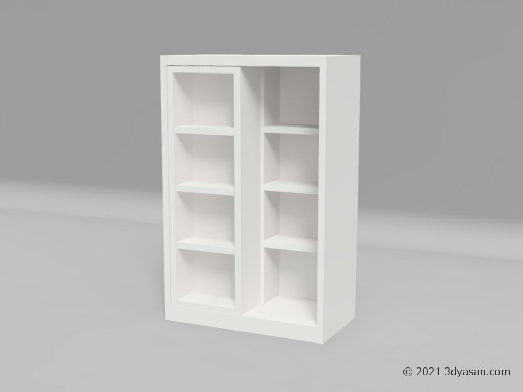 スライド式本棚の3Dモデル