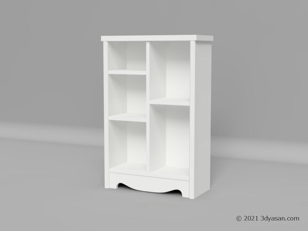 本棚の3Dモデル