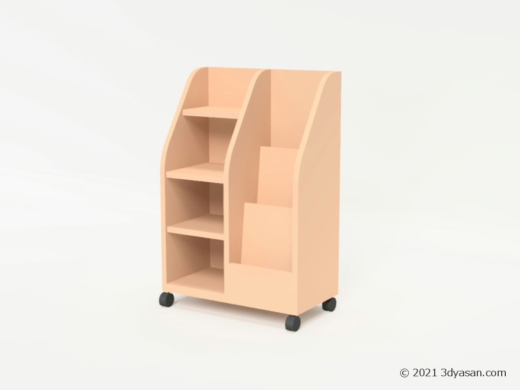 ディスプレイラックの3Dモデル