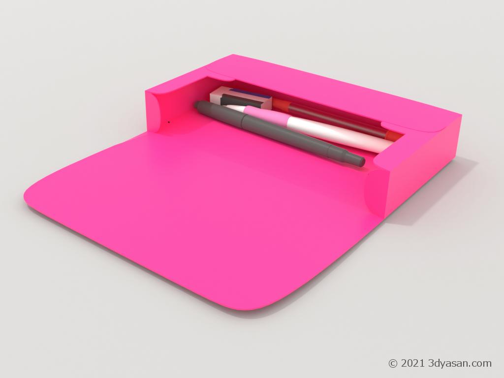 ペンケースの3Dモデル