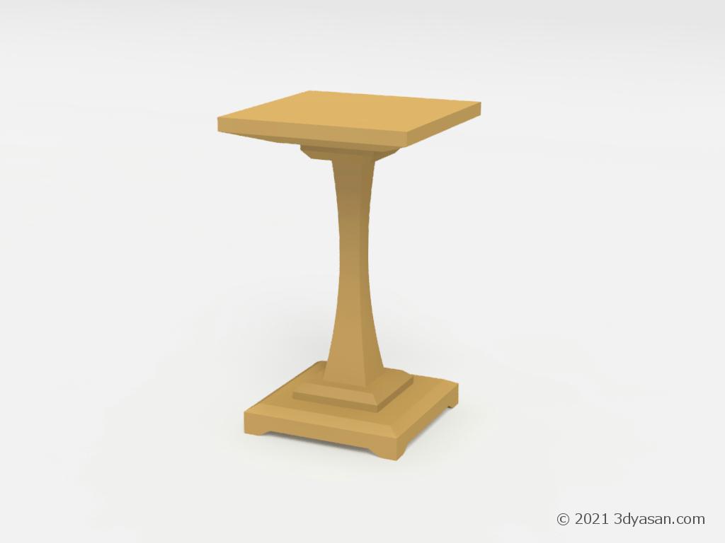 将棋の駒台の3Dモデル