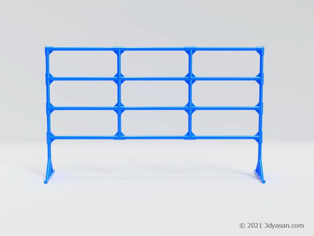 イレクターフェンスの3Dモデル