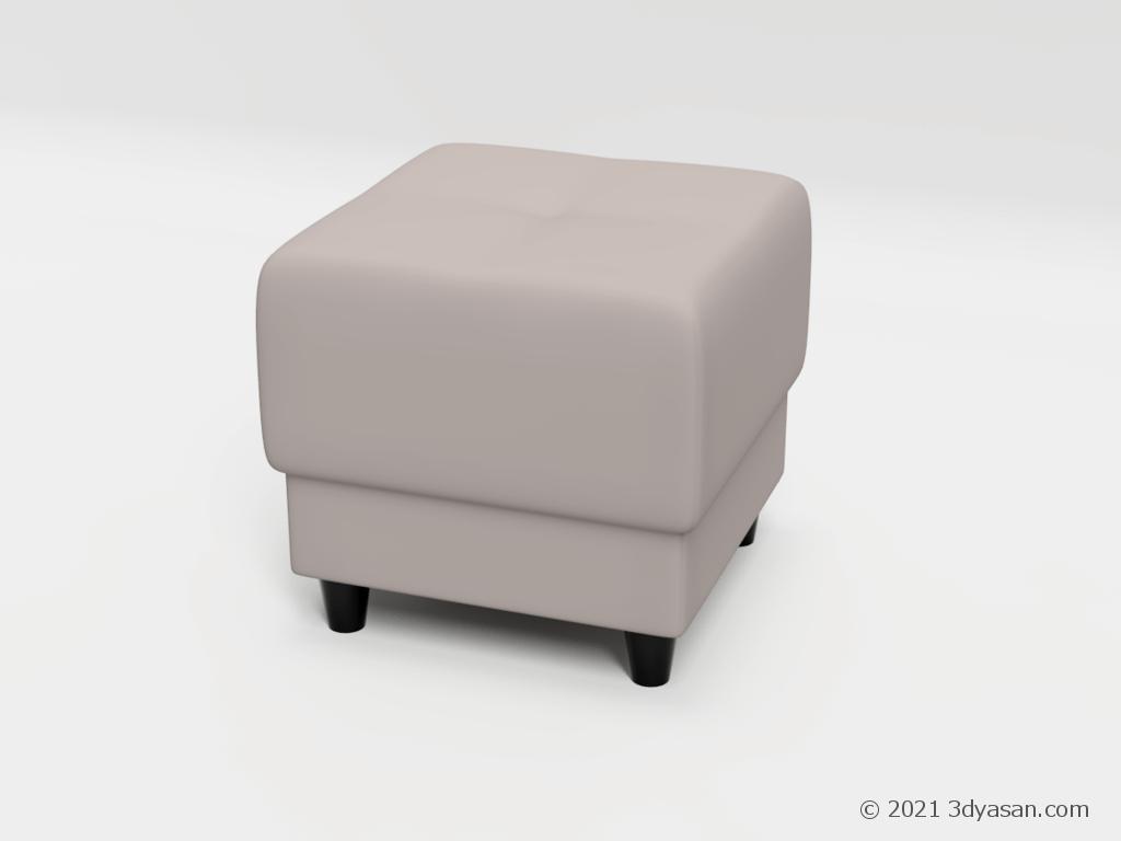 オットマンの3Dモデル