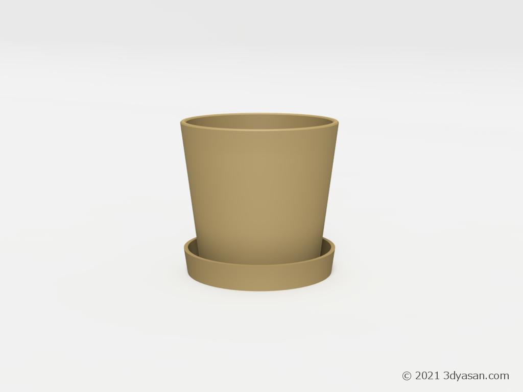 室内用卓上プランターの3Dモデル