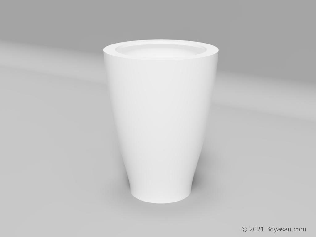 プランターの3Dモデル
