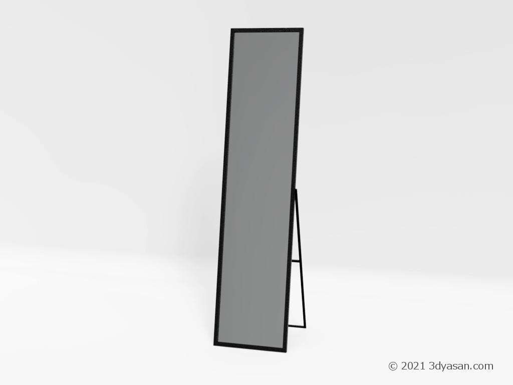 姿見(スタンドミラー)の3Dモデル