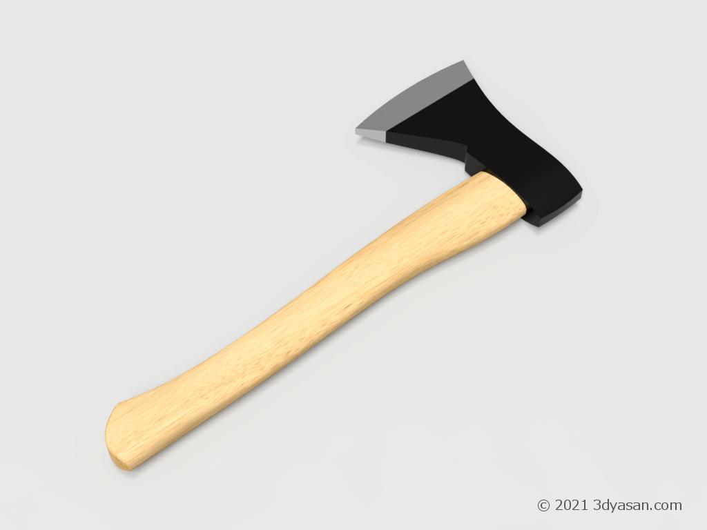 斧の3Dモデル