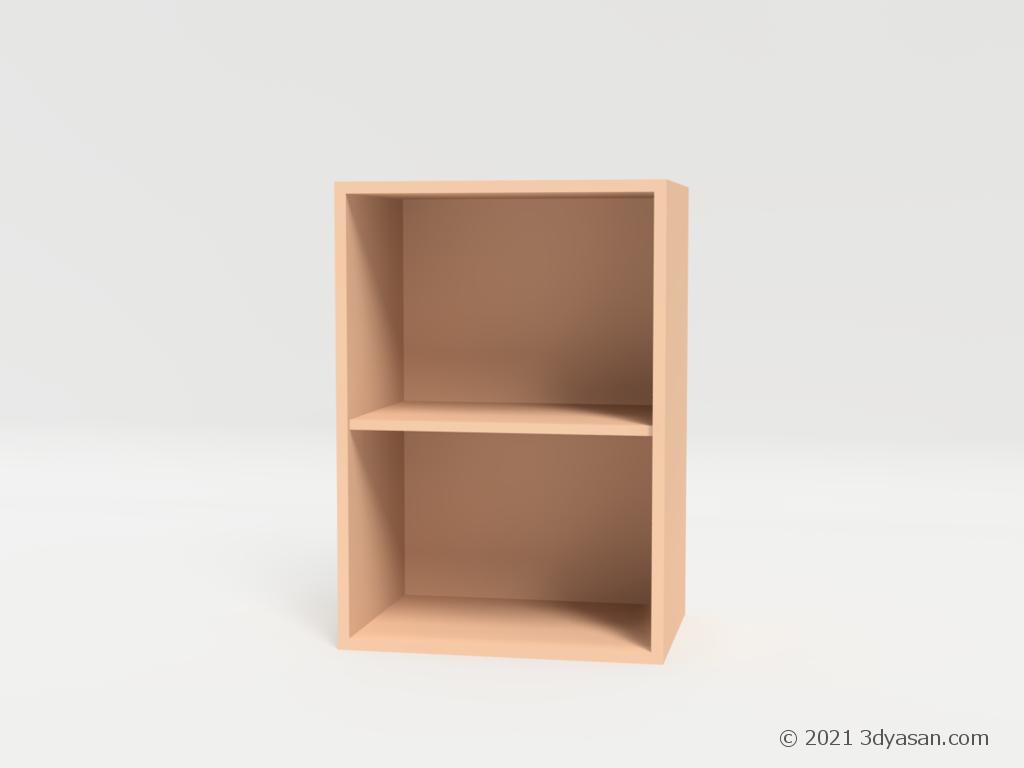 カラーボックスの3Dモデル