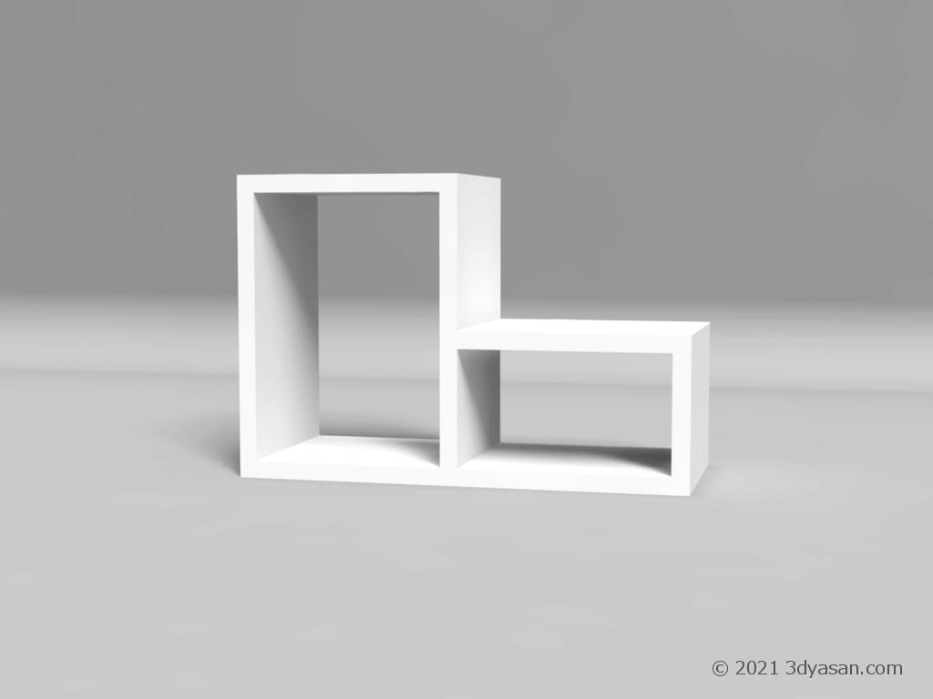 棚の3Dモデル