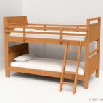 二段ベッドの3Dモデル
